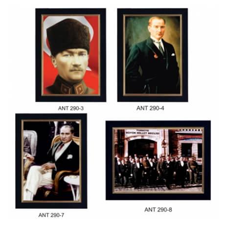 Deri Çerçeveli Atatürk Fotoğrafları