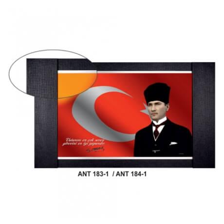 Atatürk Fotoğraflı Makam Arkalığı