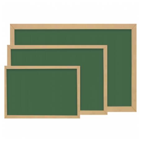 Yazı Tahtası Ham MDF Çerçeve Yeşil / Siyah